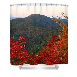 Shower Curtain featuring the photograph Linville Gorge by Kathryn Meyer