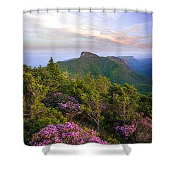 Linville Gorge Spring Bloom Shower Curtain by Serge Skiba