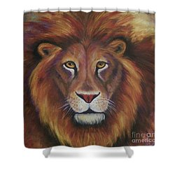 Shower Curtain featuring the painting Lion 2017 by Alga Washington
