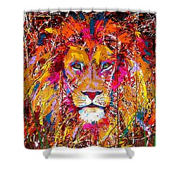 Lion 4 Shower Curtain