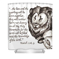 Lion And Yearling Shower Curtain