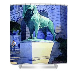 Lion At The Art Institue Of Chicago Shower Curtain