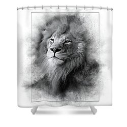 Lion Black White Shower Curtain