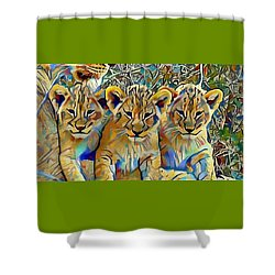 Lion Cubs Shower Curtain