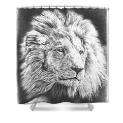 Fluffy Lion Shower Curtain