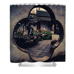 Lion Forest Garden Portal Shower Curtain