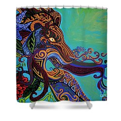 Lion Gargoyle Shower Curtain