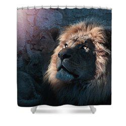 Lion Light Shower Curtain