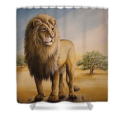 Lion Of Africa Shower Curtain