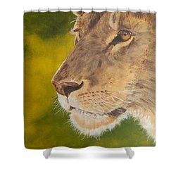 Lion Portrait Shower Curtain
