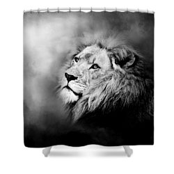 Lion - Pride Of Africa II - Tribute To Cecil In Black And White Shower Curtain