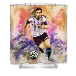 Lionel Messi 094c Shower Curtain