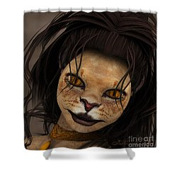 Lioness Shower Curtain by Jutta Maria Pusl