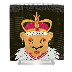 Lioness Queen Shower Curtain