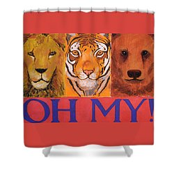 Lions And Tigers And Bears Shower Curtain by Mary McInnis