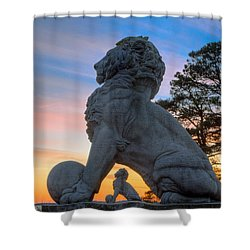 Lions Bridge At Sunset Shower Curtain