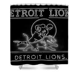 Shower Curtain featuring the photograph Lions Football by Frozen in Time Fine Art Photography