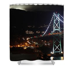 Lions Gate Bridge And Grouse Mountain Shower Curtain