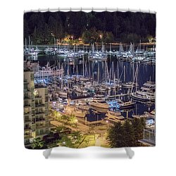 Lions Gate Bridge And Stanley Park Shower Curtain by Ross G Strachan
