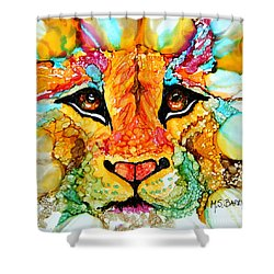 Lion's Head Gold Shower Curtain
