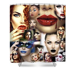Lips Culture Shower Curtain by John Rizzuto