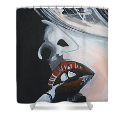 Lips Like Cherries Shower Curtain by Stuart Engel