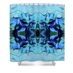 Shower Curtain featuring the digital art Liquid Abstract #0059-1 by Barbara Tristan