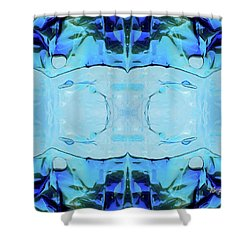 Shower Curtain featuring the digital art Liquid Abstract  #0059-2 by Barbara Tristan