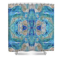 Shower Curtain featuring the digital art Liquid Abstract  #0060-1 by Barbara Tristan