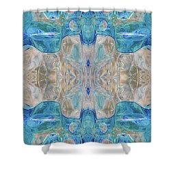 Shower Curtain featuring the digital art Liquid Abstract  #0060-2 by Barbara Tristan