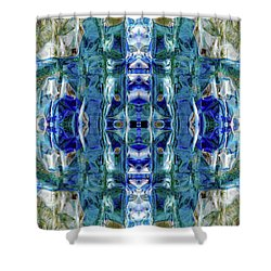 Shower Curtain featuring the digital art Liquid Abstract #0061-2 by Barbara Tristan