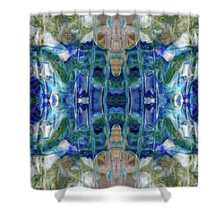 Shower Curtain featuring the digital art Liquid Abstract #0061_1 by Barbara Tristan