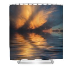Liquid Cloud Shower Curtain by Jerry McElroy