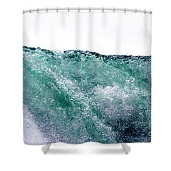 Shower Curtain featuring the photograph Liquid Horizon by Dana DiPasquale