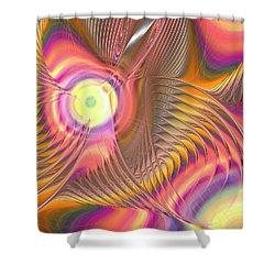Shower Curtain featuring the digital art Liquid Rainbow by Anastasiya Malakhova