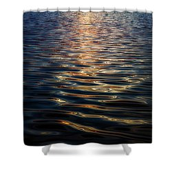 Liquid Reflections Shower Curtain