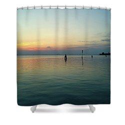 Shower Curtain featuring the photograph Liquid Sunset by Anne Kotan