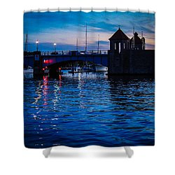 Liquid Sunset Shower Curtain