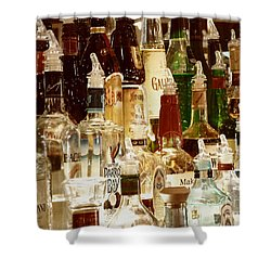 Liquor Bottles Shower Curtain