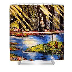 Lisas Neck Of The Woods Shower Curtain