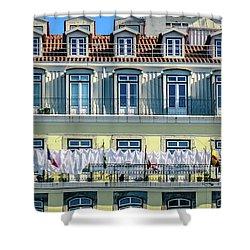 Lisbon Laundry Shower Curtain