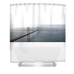 Lisbon On A Foggy Day Shower Curtain