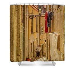 Lisbon Street # 1 Shower Curtain