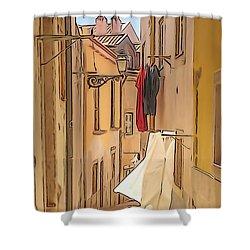 Lisbon Street #2 Shower Curtain