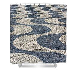Lisbon Street Shower Curtain by Patricia Schaefer