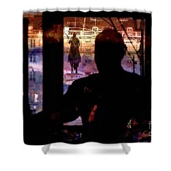 Shower Curtain featuring the photograph Lisbon Tram by Dariusz Gudowicz