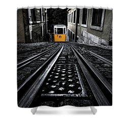 Lisbon Tram Shower Curtain by Jorge Maia