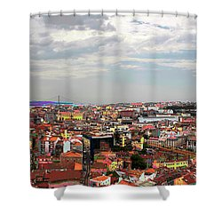 Lisbon's Chaos Of Color Shower Curtain by Lorraine Devon Wilke