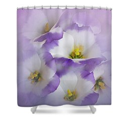 Shower Curtain featuring the photograph Lisianthus Grouping by David and Carol Kelly