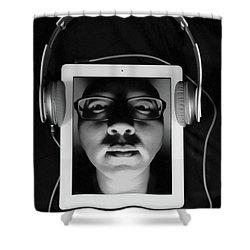 Listen To Inner Voice Shower Curtain